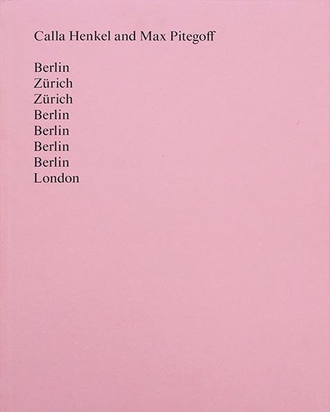 Calla Henkel Max Pitegoff libro